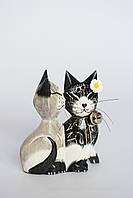 Пара целующихся котов деревянных высота 15 см