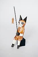 Статуэтка кот-рыбак деревянный высота 20 см