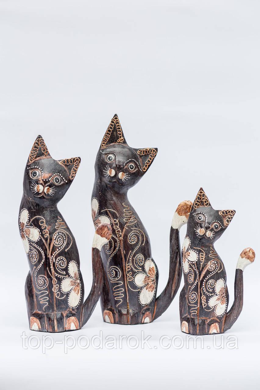 Статуэтка кошка деревянная высота 27 см