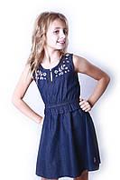 Детский джинсовый сарафан для девочки US. POLO ASSN., фото 1