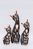 Статуэтка кошка деревянная высота 15 см