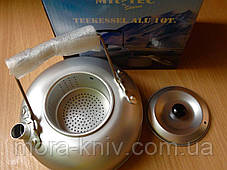 Походный алюминиевый Mil-Tec чайник 1Qt(0,95л) с ситечком (14695000), фото 3