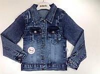 Оригинальная джинсовая куртка широкий размерный ряд