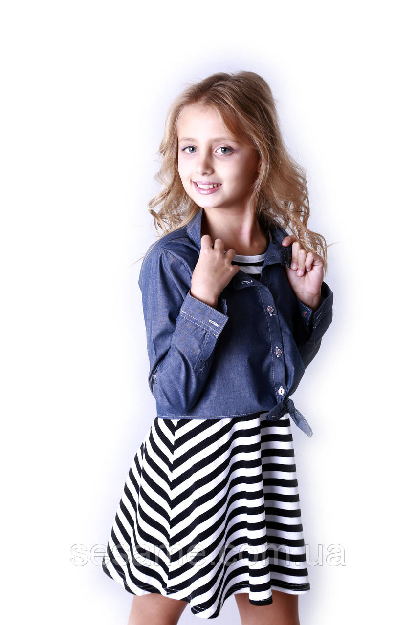 Детский сарафан и рубашка black, US. POLO ASSN.