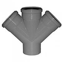 Крестовина для канализации 110 мм 45 градусов Инсталпласт-ХВ