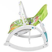 Мебель для малыша-шизлонг-качалка(салатоая расцетка)