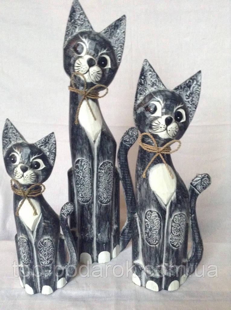 Статуэтка кошка деревянная высота 40 см