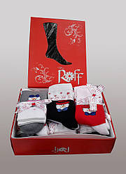 Носки махровые в подарочной упаковке 12 шт