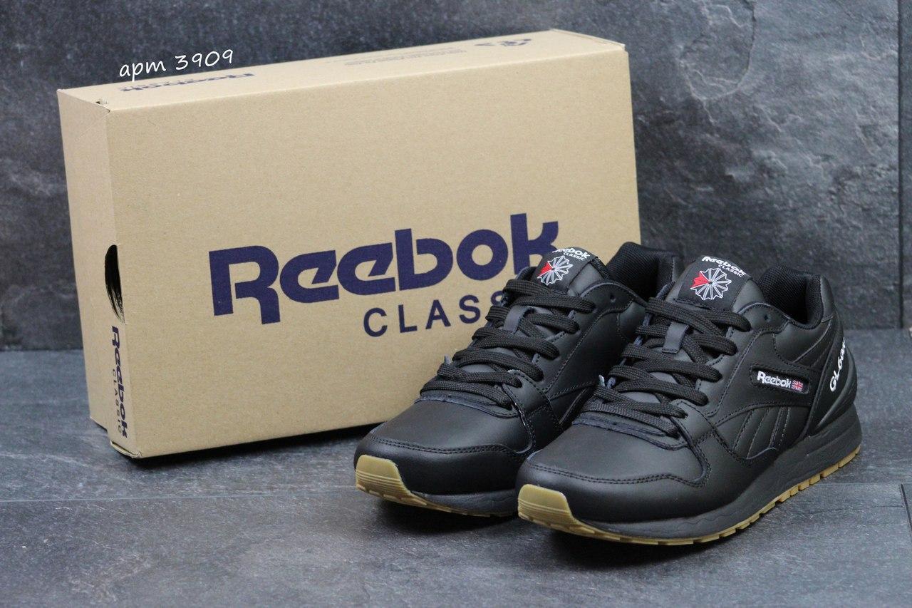 Мужские кроссовки Reebok G1 6000 кожаные,черные 43р