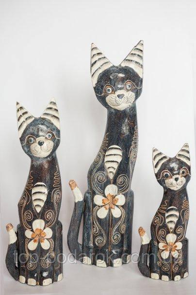 Статуэтка кошка деревянная высота 50 см