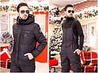 Мужской горнолыжный костюм штаны комбинезон и куртка