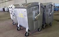 4х-колесный контейнер 1100л металлический оцинкованный