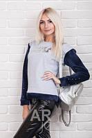 Модный молодежный батник на флисе  (42-48), доста вка по Украине