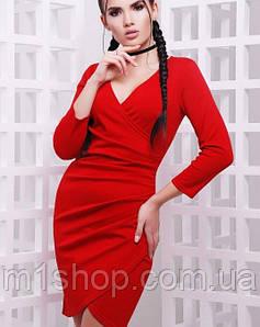 Женское облегающее платье на запах (Amelie fup)