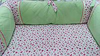 Комплект в детскую кроватку из тканей премиум класса