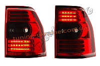 Задние фонари на Mitsubishi Pajero V 80 2008-2014 красные