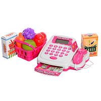 Детский Игровой набор Кассовый аппарат 8319A  -с продуктами,  деньги, банковская карта