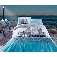 Комплект постельного белья Cotton Box Maritime Ship mavi