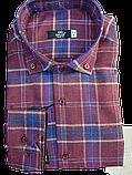 Рубашка мужская в клетку супер батал-Gelix, фото 3