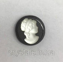 Камея Preciosa (Чехия) 10 мм 03631 прозрачная на гематите