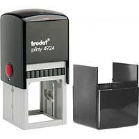 Оснастка для круглой печати или штампа TRODAT 4924, 40х40 мм, корпус пластиковый