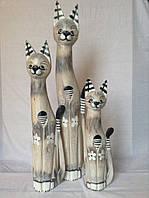 Статуєтка кошка деревянная высота 80 см