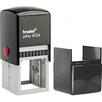 Оснастка для круглой печати или штампа TRODAT 4924, 40х40 мм, корпус пластиковый черный