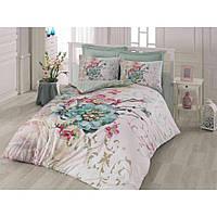 Комплект постельного белья Cotton Box Floral 3 D Norma turkuaz