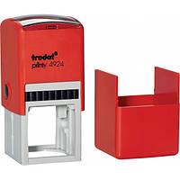 Оснастка для круглой печати или штампа TRODAT 4924, 40х40 мм, корпус пластиковый красный