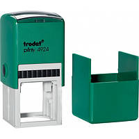 Оснастка для круглой печати или штампа TRODAT 4924, 40х40 мм, корпус пластиковый зеленый