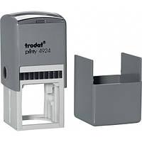 Оснастка для круглой печати или штампа TRODAT 4924, 40х40 мм, корпус пластиковый серый