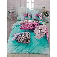 Комплект постельного белья Cotton Box Floral 3 D Flora turkuaz