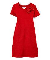 Детское платье вязаное красное для девочки, 0180