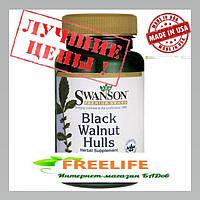 Black Walnut Hulls, Кожура Черного ореха, антипаразитарное средство 500 мг 60 капсул