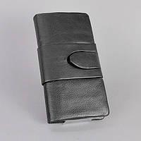 Купюрник кожаный женский черный 023