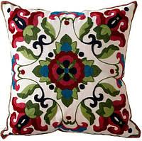 Декоративная наволочка с вышивкой-орнаментом 44х44 смTRAUM 5321-02, разный цвета