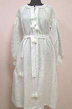 Платье вышитое из белого льна, Зубчаті ромби