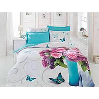 Комплект постельного белья Cotton Box Floral 3 D Meri turkuaz