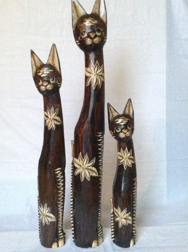 Статуєтка кошка деревянная высота 100 см