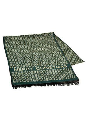 Шерстяной мужской шарф 170 на 30 см 50146-15 Бежевый