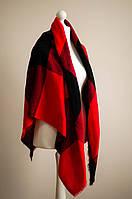 Платок на плечи (в клетку) красный
