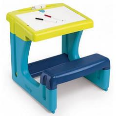 Парта-доска Школьник, синяя, Smoby Toys