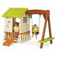 Игровой домик с горкой и качелями, Smoby Toys