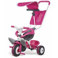 Детский велосипед с козырьком и багажником (розовый), Smoby Toys