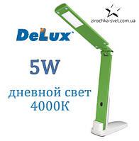 Настольная светодиодная лампа зеленая 5W DELUX TF-310
