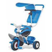 Детский велосипед с козырьком и багажником (синий), Smoby Toys, фото 1