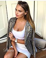 Женский пиджак  на шелковой подкладке