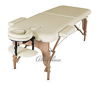 Складной Массажный стол(Светло-бежевый) MIA Двухсекционный деревянный Доставка бесплатно!!!