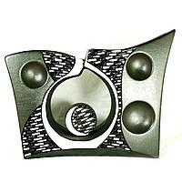 Ваза керамическая авторский дизайн ручная роспись Хайтек черно-белая 25см 10057