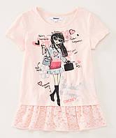 Детская футболка DKNY персиковая для девочки, 0183, фото 1